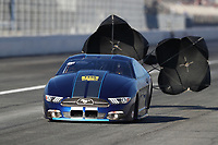 Feb 7, 2020; Pomona, CA, USA; NHRA pro stock driver Fernando Cuadra Jr during qualifying for the Winternationals at Auto Club Raceway at Pomona. Mandatory Credit: Mark J. Rebilas-USA TODAY Sports