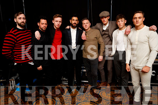 Sean McCarthy, Timmy Dowd, Eoin Rochford, Paul Galvin, Sam Donnelly and Aubrey O'Mahony, models at the Dunnes Stores and Paul Galvin Shelby Autumn Winter Fashion Show held at the Brandon Hotel, Tralee on Friday night last.