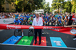 Ready to start Stage 3 of the Deutschland Tour 2019, running 189km from Gottingen to Eisenach, Germany. 31st August 2019.<br /> Picture: ASO/Marcel Hilger | Cyclefile<br /> All photos usage must carry mandatory copyright credit (© Cyclefile | ASO/Marcel Hilger)