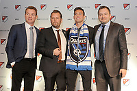 Philadelphia, PA - Thursday January 19, 2018: Chris Leitch, Mikael Stahre, Jesse Fioranelli,Danny Musovski during the 2018 MLS SuperDraft at the Pennsylvania Convention Center.