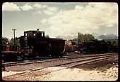 Caboose #0589 - Salida yards<br /> D&amp;RGW  Salida, CO