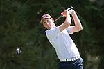 April 14, 2014; Bremerton, WA, USA; Pepperdine Waves golfer Kevin DeHuff during the WCC Golf Championships at Gold Mountain Golf Club.