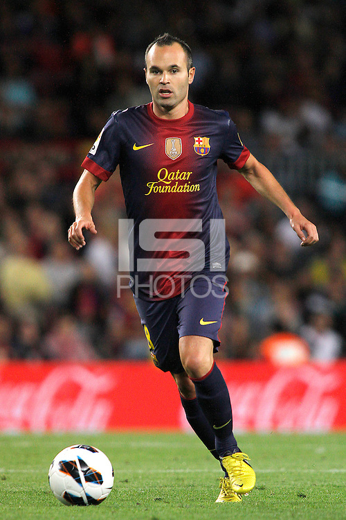 02/09/2012 - Liga Football Spain, FC Barcelona vs. Valencia CF Matchday 3- Andres Iniesta was awarded today with Best european player 2012