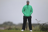 Peter O'Keeffe from Ireland on the 8th tee during Round 3 Foursomes of the Men's Home Internationals 2018 at Conwy Golf Club, Conwy, Wales on Friday 14th September 2018.<br /> Picture: Thos Caffrey / Golffile<br /> <br /> All photo usage must carry mandatory copyright credit (&copy; Golffile | Thos Caffrey)
