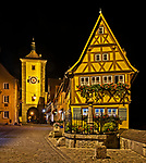 Night view of the Plönlein and Siebers Tower
