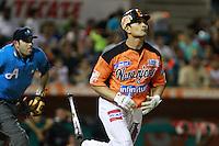 Jesse Gutierrez,durante el tercer juego de la serie de el partido Naranjeros de Hermosillo vs Venados de Mazatlan Sonora en el Estadio Sonora. 10 noviembre 2013. Liga Mexicana del Pacifico (MLP)