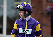 June 10th 2017, Chester Racecourse, Cheshire, England; Chester Races Horse racing Jockey Tom Marquand comes out of the Weighing room for his ride in the final race on Tobacco Road
