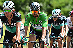 Green Jersey Peter Sagan (SVK) and his Bora-Hansgrohe team in action during Stage 13 of the 2018 Tour de France running 169.5km from Bourg d'Oisans to Valence, France. 20th July 2018. <br /> Picture: ASO/Alex Broadway | Cyclefile<br /> All photos usage must carry mandatory copyright credit (&copy; Cyclefile | ASO/Alex Broadway)