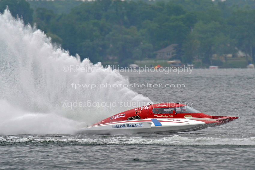 "Tom Thompson, E-75, ""Fat Chance II"" (5 Litre class hydroplane(s)"