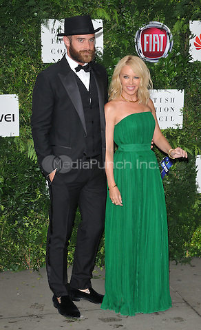 Joshua Sasse &amp; Kylie Minogue at the One For The Boys Charity Ball in aid of the One For The Boys charity, Victoria &amp; Albert Museum, Cromwell Road, London, England, UK, on Sunday 12 June 2016.<br /> CAP/CAN<br /> &copy;CAN/Capital Pictures /MediaPunch ***NORTH AND SOUTH AMERICAS ONLY***