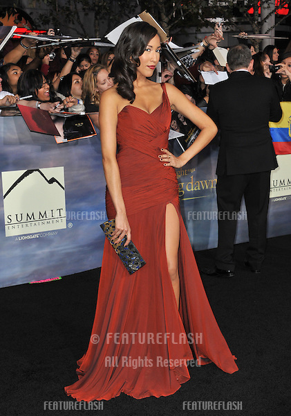 """Marisa Quinn at the world premiere of her movie """"The Twilight Saga: Breaking Dawn - Part 2"""" at the Nokia Theatre LA Live..November 12, 2012  Los Angeles, CA.Picture: Paul Smith / Featureflash"""