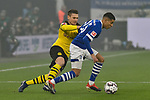 08.12.2018, Veltins-Arena, Gelsenkirchen, GER, 1. FBL, FC Schalke 04 vs. Borussia Dortmund, DFL regulations prohibit any use of photographs as image sequences and/or quasi-video<br /> <br /> im Bild v. li. im Zweikampf Lukasz Piszczek (#26, Borussia Dortmund) Amine Harit (#25, FC Schalke 04) <br /> <br /> Foto © nordphoto/Mauelshagen