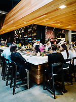 The sushi bar at Uchi Restaurant in Denver, Colorado, Tuesday, March 26, 2019.<br /> <br /> Photo by Matt Nager