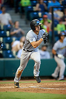 Trenton Thunder third baseman Mandy Alvarez (3) runs to first base during a game against the Richmond Flying Squirrels on May 11, 2018 at The Diamond in Richmond, Virginia.  Richmond defeated Trenton 6-1.  (Mike Janes/Four Seam Images)