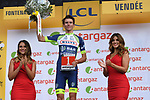 Yoann Offredo (FRA) Wanty-Groupe Gobert wins the combativity award for Stage 1 of the 2018 Tour de France running 201km from Noirmoutier-en-l&rsquo;&Icirc;le to Fontenay-le-Comte, France. 7th July 2018. <br /> Picture: ASO/Pauline Ballet | Cyclefile<br /> All photos usage must carry mandatory copyright credit (&copy; Cyclefile | ASO/Pauline Ballet)