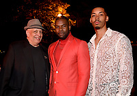 """LOS ANGELES - JULY 08: (L-R) Writer Walter Mosley and cast member Amin Joseph and actor Melvin Gregg attend the Red Carpet Event for FX's """"Snowfall"""" Season Three Premiere Screening at USC Bovard Auditorium on July 8, 2019 in Los Angeles, California. (Photo by Frank Micelotta/PictureGroup)"""