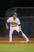 Burlington Bees first baseman Nick Flair (36) during a game against the Clinton LumberKings on August 20, 2015 at Community Field in Burlington, Iowa.  Burlington defeated Clinton 3-2.  (Mike Janes/Four Seam Images)