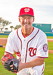 28 February 2016: Washington Nationals pitcher Trevor Gott poses for his Spring Training Photo-Day portrait at Space Coast Stadium in Viera, Florida. Mandatory Credit: Ed Wolfstein Photo *** RAW (NEF) Image File Available ***