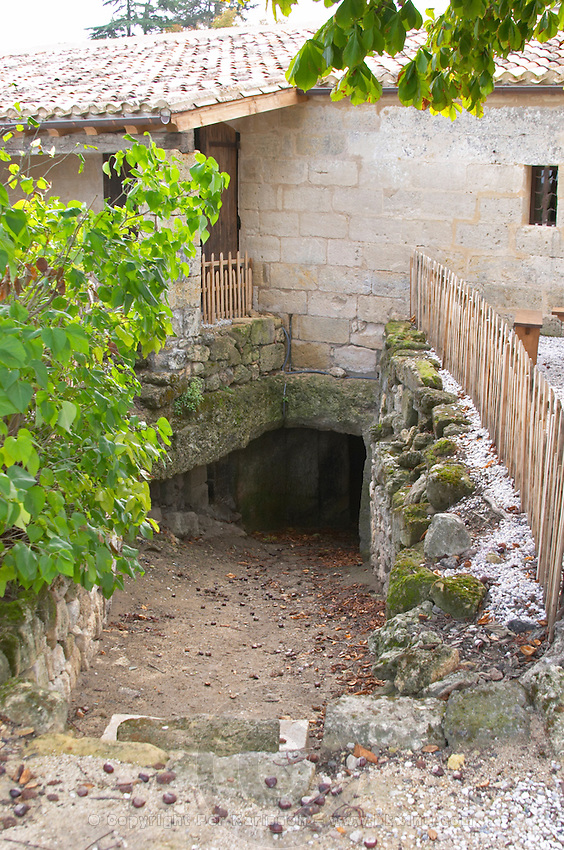 The underground cellar. Clos Saint Julien, Saint Emilion, Bordeaux, France