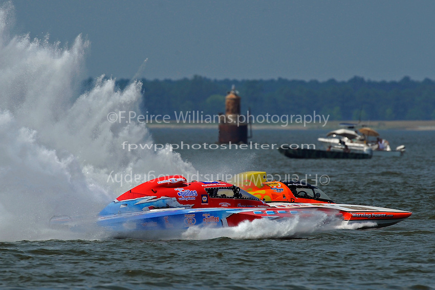 "Marc Theoret, GP-444 ""GP Valleyfield"" and Marty Wolfe, GP-93 ""Renegade""  (Grand Prix Hydroplane(s)"