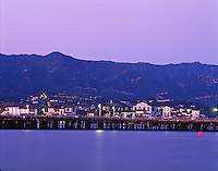 The Stearns Wharf at sunset. Santa Barbara.