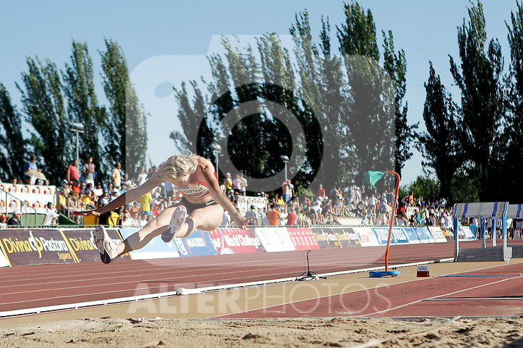 POTAPOVA Anastasia during an triple jump final  competition in Madrid, Spain. July 06, 2012.(ALTERPHOTOS/Alconada)