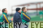 Darragh O'Se manager and Seamus Moynihan Selector of the Kerry Team who played IT Tralee in the McGrath cup at Austin Stack Park on Sunday.