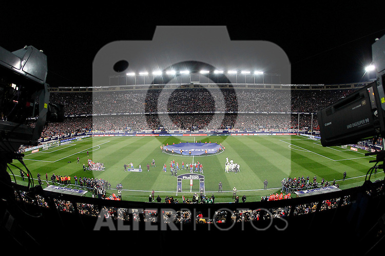 Vicente Calderon Stadium during Atletico de Madrid vs Real Madrid during La Liga match. November 19,2016. (ALTERPHOTOS/Acero)