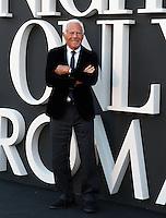 Lo stilista Giorgio Armani ritratto in occasione dell'One Night Only a Roma, 5 giugno 2013.<br /> Italian fashion designer Giorgio Armani portrayed in occasion of the One Night Only fashion event in Rome, 5 June 2013.<br /> UPDATE IMAGES PRESS/Riccardo De Luca