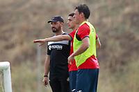 Getafe CF's coach Jose Bordalas, Emiliano Velazquez and Nicolas Gorosito during training session. August 1,2017.(ALTERPHOTOS/Acero) /NortePhoto.com