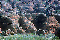 The Bungle-Bungles in North Western Australia's Kimberly region. PURNULULU NATIONAL PARK, WA. Purnululu National Park in Western Australia comprises the Bungle Bungle Range; its distinctive beehive formation was shaped by 20 million years of erosion and uplift. The area has been used by Aboriginal people for thousands of years as a hunting ground during the wet season when plant and animal life is more abundant. As a result it is rich in Aboriginal artwork and burial sites, but few Europeans knew of its existence until the mid-1980s. The area was declared a national park in 1987, and a World Heritage Site in 2003 (for natural beauty) and again in 2005 (for cultural significance).