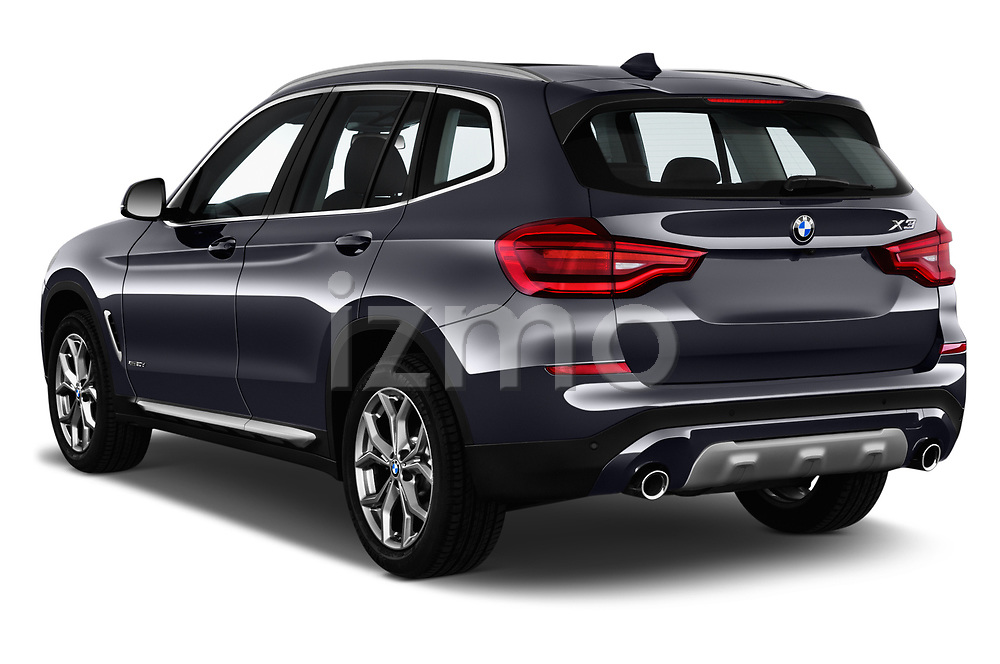 Car pictures of rear three quarter view of a 2018 BMW X3 xLine 5 Door SUV angular rear