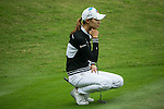 Min Sun Kim of South Korea ponders her next move during Round 4 of the World Ladies Championship 2016 on 13 March 2016 at Mission Hills Olazabal Golf Course in Dongguan, China. Photo by Victor Fraile / Power Sport Images