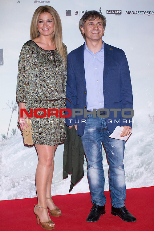 08.10.2012. Celebrities attend the premiere of Kinepolis Cinema in Madrid of the movie 'The Impossible'. Directed by Juan Antonio Bayona and starring by  Naomi Watts and Tom Holland. In the image Patricia Rivas and Jose Mota Foto © nph / Marta Gonzalez) *** Local Caption ***