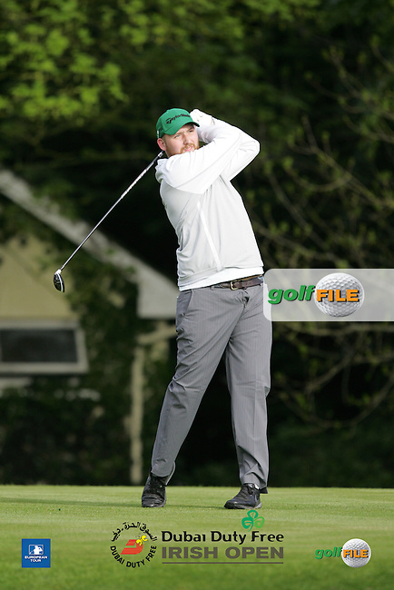 Evan Boudreaux during Wednesday's Pro-Am ahead of the 2016 Dubai Duty Free Irish Open Hosted by The Rory Foundation which is played at the K Club Golf Resort, Straffan, Co. Kildare, Ireland. 18/05/2016. Picture Golffile | TJ Caffrey.<br /> <br /> All photo usage must display a mandatory copyright credit as: &copy; Golffile | TJ Caffrey.