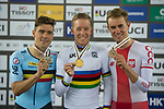 Men's Points Race Final during the 2017 UCI Track Cycling World Championships on 14 April 2017, in Hong Kong Velodrome, Hong Kong, China. Photo by Marcio Rodrigo Machado / Power Sport Images