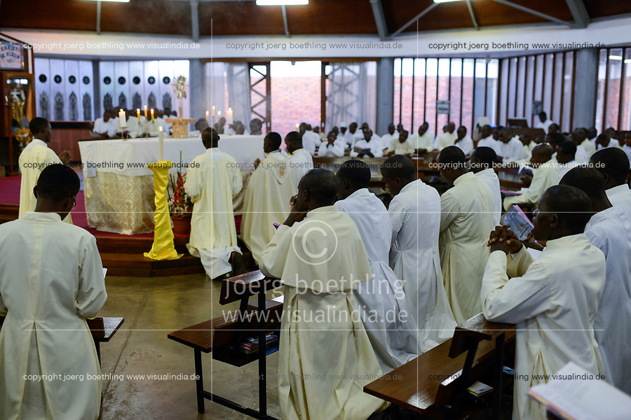 UGANDA, Kampala, National Seminary Ggaba, theological education, holy mass