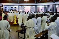 UGANDA, Kampala, National Seminary Ggaba, theological education, holy mass
