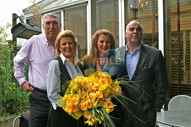 Donnie Grennan, Maeve Smyth, Karen Healy and Giles Belton at the launch of the Daffodil Cancer Day Lunch...Photo NEWSFILE/Jenny Matthews.(Photo credit should read Jenny Matthews/NEWSFILE)....This Picture has been sent you under the condtions enclosed by:.Newsfile Ltd..The Studio,.Millmount Abbey,.Drogheda,.Co Meath..Ireland..Tel: +353(0)41-9871240.Fax: +353(0)41-9871260.GSM: +353(0)86-2500958.email: pictures@newsfile.ie.www.newsfile.ie.FTP: 193.120.102.198.