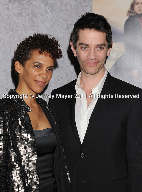 "LOS ANGELES, CA - January 12: James Frain and Marta Cunningham attend HBO's ""Big Love"" Season 5 party at the Directors Guild Of America on January 12, 2011 in Los Angeles, California."