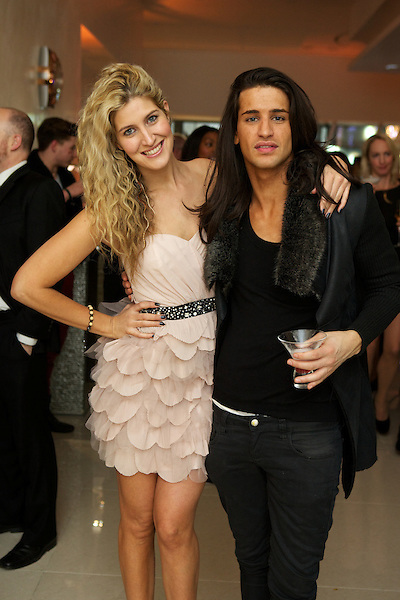Cheska Hull and Ollie Lock from Made in Chelsea at The Omega Boutique Launch party, Westfield Stratford, London