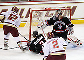 Ben Smith (BC - 12) scores - Drew Ellement (NU - 2), Brian Dumoulin (BC - 2), Chris Rawlings (NU - 37) - The Boston College Eagles defeated the Northeastern University Huskies 5-1 on Saturday, November 7, 2009, at Conte Forum in Chestnut Hill, Massachusetts.