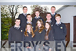CEREMONY: Gradutes of Gaelcholaiste Chiarrai, Tralee at their Graduation ceremony at the Ballygarry House hotel and Spa, Tralee on Friday Eoin Ó Horgáin, Jordan Ó Cuirc, Damien Ó Cíosáin, Cormac Ó Conchúir, Pól De Buitléir, Spi Dirman, Kealan Ó Doherty, Katie O'Connell, Lauren Nic Gearailt, Criostóir Ó Cuinneagáin.