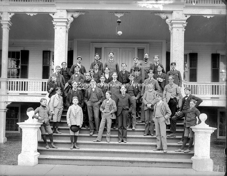 Frederick Stone negative. Taft school group, undated.