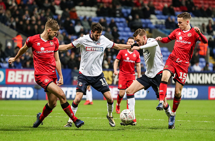 Bolton Wanderers' Craig Noone breaks<br /> <br /> Photographer Andrew Kearns/CameraSport<br /> <br /> Emirates FA Cup Third Round - Bolton Wanderers v Walsall - Saturday 5th January 2019 - University of Bolton Stadium - Bolton<br />  <br /> World Copyright © 2019 CameraSport. All rights reserved. 43 Linden Ave. Countesthorpe. Leicester. England. LE8 5PG - Tel: +44 (0) 116 277 4147 - admin@camerasport.com - www.camerasport.com