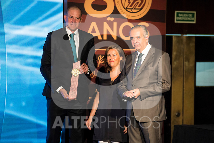 Alberto Herreros during the 80th Aniversary of the National Basketball Team at Melia Castilla Hotel, Spain, September 01, 2015. <br /> (ALTERPHOTOS/BorjaB.Hojas)