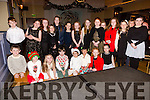 Some of the Junior performers of the Kerry School of Musice who performed at the Mistletoe & Wine evening in the Ballygarry House Hotel on Sunday.