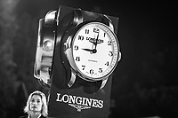The clock strikes 2100hrs - start time for the Longines FEI Nations Cup Jumping Final - Challenge Cup. 2017 ESP-Longines FEI Nations Cup Jumping Final - CSIO Barcelona. Real Club de Polo de Barcelona. Friday 29 September. Copyright Photo: Libby Law Photography