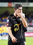 Nederland, Waalwijk, 24 augustus 2012.Seizoen 2012-2013.RKC-Roda JC.Sanharib Malki van Roda JC loopt teleurgesteld het veld af.