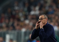Football Soccer: UEFA Champions League -Group Stage-  Group D - Juventus vs Lokomotiv Moskva, Allianz Stadium. Turin, Italy, October 22, 2019.<br /> Juventus' coach Maurizio Sarri speaks to his players during the Uefa Champions League football soccer match between Juventus and Lokomotiv Moskva at Allianz Stadium in Turin, on October 22, 2019.<br /> UPDATE IMAGES PRESS